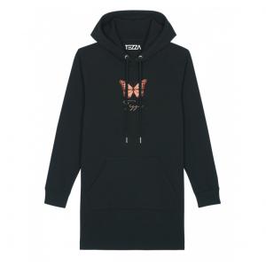 Butterfly Hoodie Dress Black