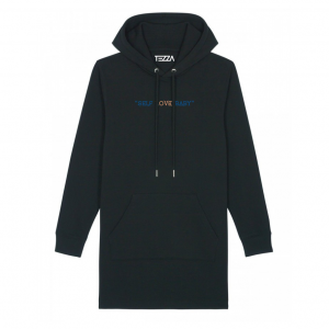 Love Hoodie Dress Black