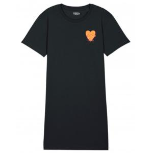 Mind T-shirt dress black