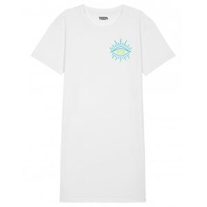 Tezza Trust T-shirt dress white 1