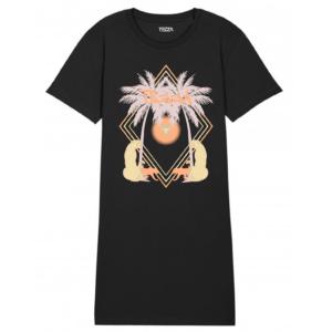 Tezza Vacay T-shirt dress black 1