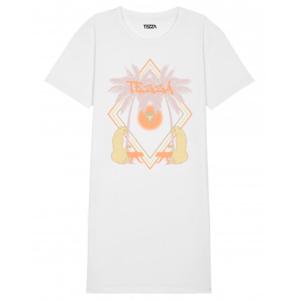 Tezza Vacay T-shirt dress white 1