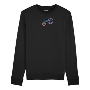 Tezza Smiley Sweater Black 1