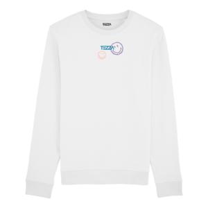 Tezza Smiley Sweater White 1