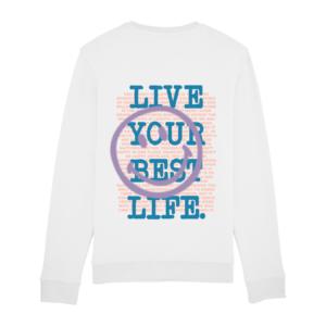 Tezza Smiley Sweater White 2